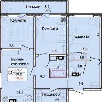 ЖК Метро (Киров) – планировка №2