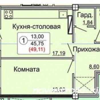 ЖК по Калинина (Киров) – планировка №5