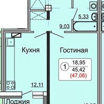 ЖК по Калинина (Киров) – планировка №2