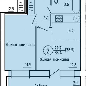 ЖК на Энтузиастов (Киров) – планировка №1