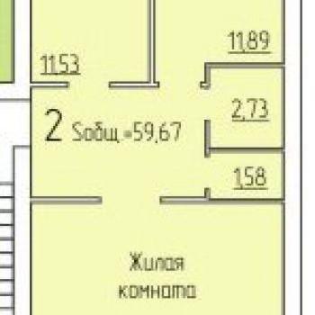 ЖК по Пугачева (Киров) – планировка №3