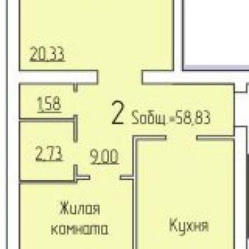 ЖК по Пугачева (Киров) – планировка №4