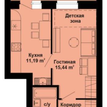 ЖК Северный Берег (Киров) – планировка №2