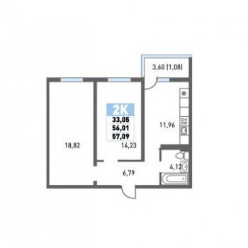 ЖК Красная площадь (Краснодар) – планировка №9
