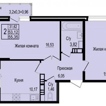 ЖК Мирный город (Краснодар) – планировка №12