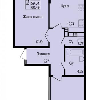 ЖК Мирный город (Краснодар) – планировка №11