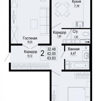 ЖК Мирный город (Краснодар) – планировка №7