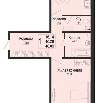 ЖК Мирный город (Краснодар) – планировка №4