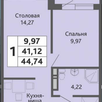 ЖК Мозаика (Краснодар) – планировка №5