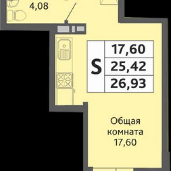 ЖК Мозаика (Краснодар) – планировка №4