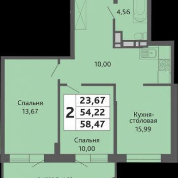 ЖК Мозаика (Краснодар) – планировка №17