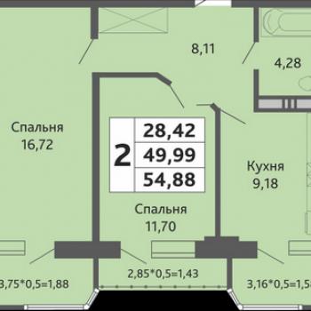 ЖК Мозаика (Краснодар) – планировка №15