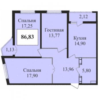 ЖК Сказка град (Краснодар) – планировка №7