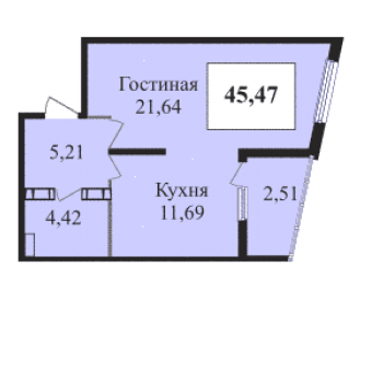 ЖК Сказка град (Краснодар) – планировка №3