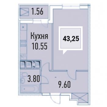 ЖК Империал (Краснодар) – планировка №6
