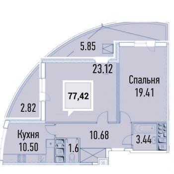 ЖК Империал (Краснодар) – планировка №1