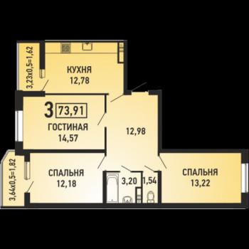 ЖК Губернский (Краснодар) – планировка №13