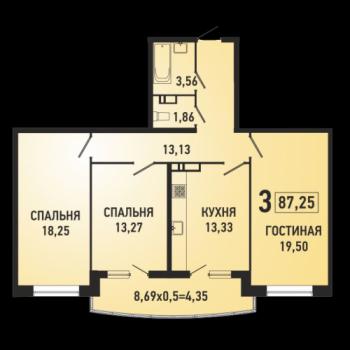 ЖК Губернский (Краснодар) – планировка №11