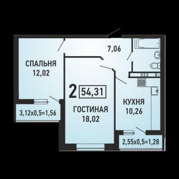ЖК Губернский (Краснодар) – планировка №10