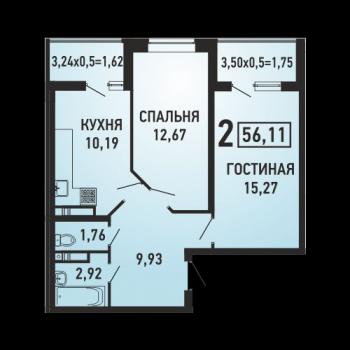 ЖК Губернский (Краснодар) – планировка №9