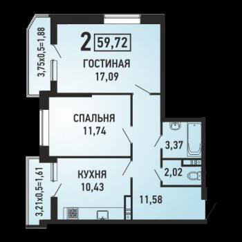 ЖК Губернский (Краснодар) – планировка №8