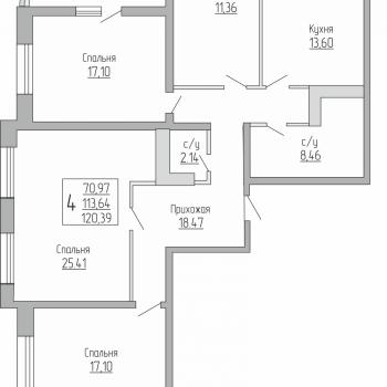 ЖК Резиденция (Краснодар) – планировка №13