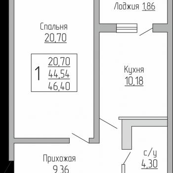 ЖК Резиденция (Краснодар) – планировка №2