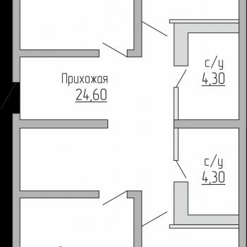 ЖК Резиденция (Краснодар) – планировка №12