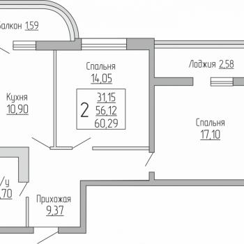 ЖК Резиденция (Краснодар) – планировка №10