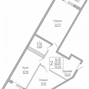 ЖК Резиденция (Краснодар) – планировка №7