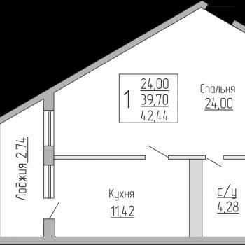 ЖК Резиденция (Краснодар) – планировка №6