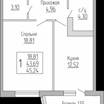ЖК Резиденция (Краснодар) – планировка №5