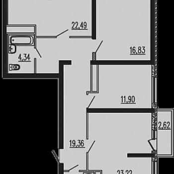 ЖК Рекорд (Краснодар) – планировка №12