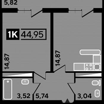 ЖК Студия 45 (Краснодар) – планировка №5