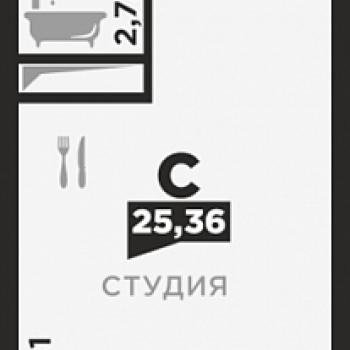 ЖК по ул. Красных Партизан 2 (Краснодар) – планировка №3