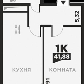 ЖК по ул. Красных Партизан 2 (Краснодар) – планировка №6