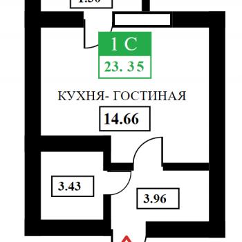 ЖК Дыхание (Краснодар) – планировка №1