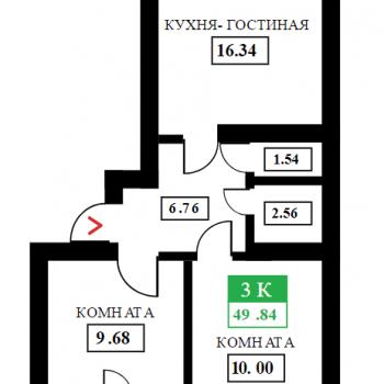 ЖК Дыхание (Краснодар) – планировка №9