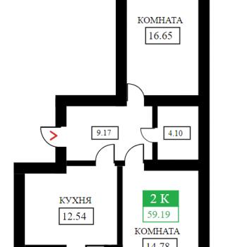 ЖК Дыхание (Краснодар) – планировка №7