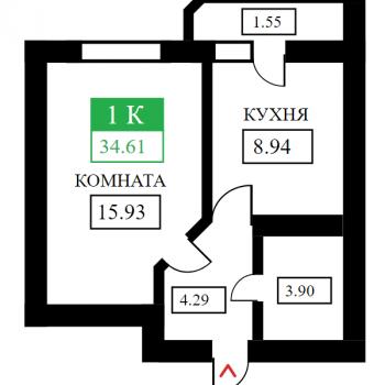 ЖК Дыхание (Краснодар) – планировка №6