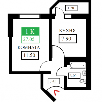 ЖК Дыхание (Краснодар) – планировка №4