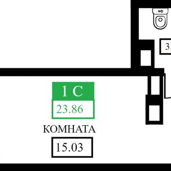ЖК Открытие (Краснодар) – планировка №1