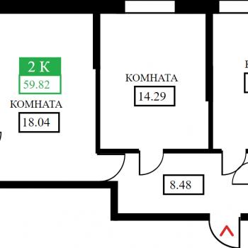 ЖК Открытие (Краснодар) – планировка №9