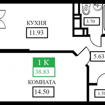 ЖК Открытие (Краснодар) – планировка №5