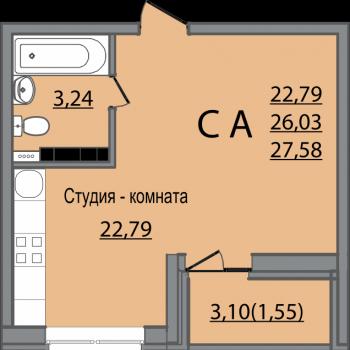 ЖК Славянка (Краснодар) – планировка №2