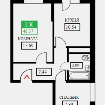 ЖК Крылья (Краснодар) – планировка №6