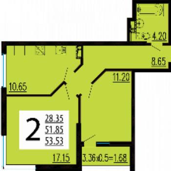 ЖК Краснодар Сити (Краснодар) – планировка №3