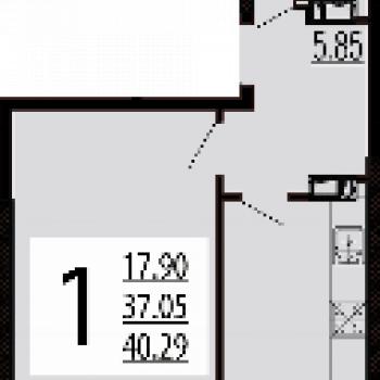 ЖК Краснодар Сити (Краснодар) – планировка №1