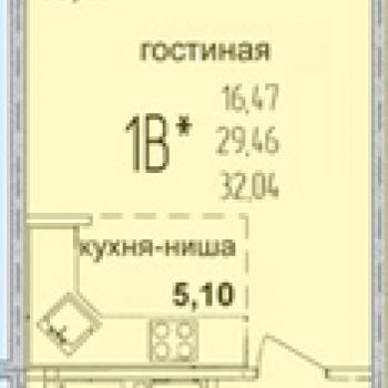 ЖК Жемчужина (Краснодар) – планировка №1