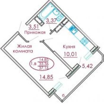 ЖК Москва (Краснодар) – планировка №1